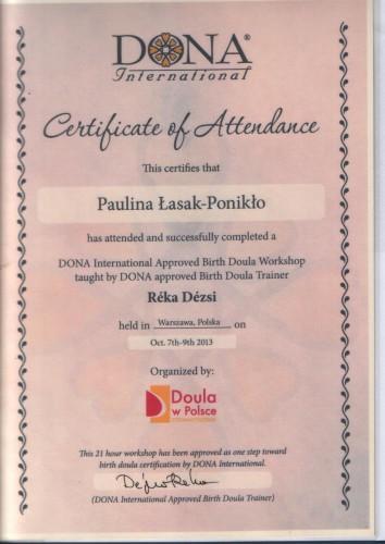 Certyfikat Doula